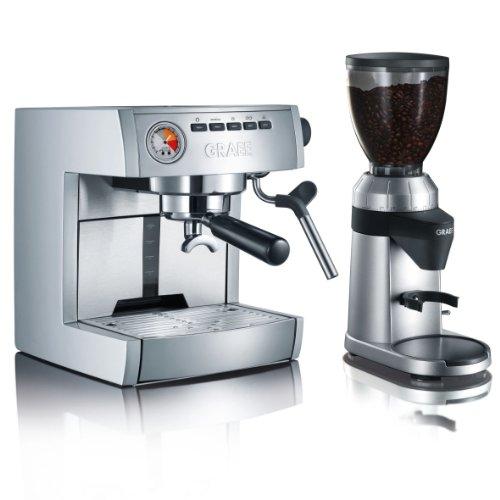 graef profi set plus es85euset siebtr ger espressomaschine es 85 mit kaffeem hle cm 800 im set. Black Bedroom Furniture Sets. Home Design Ideas