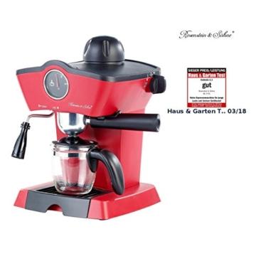 Rosenstein & Söhne Espressomaschine Retro Frontansicht